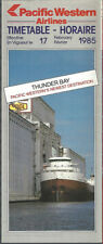 Pacific Western Airlines system timetable 2/17/85 [7072] Buy 2 Get 1 Free