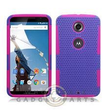 Nexus 6 Hybrid Mesh Case Purple/Hot Pink Protector Guard Shield