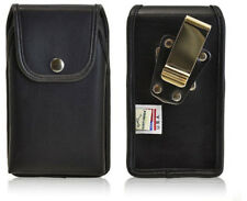 Genuine Leather Rugged Metal Clip Case fits Sonim XP7
