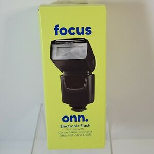 Focus ONN Electronic Flash For Canon, Nikon, Sony & Other Hot-Shoe DSLRs New