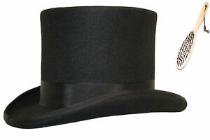 Quality Hand Made Top Hat 100% Wool Wedding Ascot Event Hat 14 Colours 5 Sizes