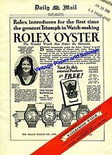 1943 Rolex Oyster Waterproof Watch Advert Birthday Anniversary Announcement Ad