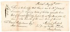 1780 Payment for Signing Pa Colonial Currency, Revolutionary War Philadelphia
