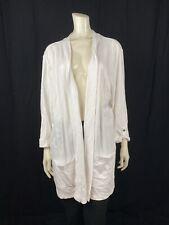 Karen Scott Women's Plus Sz Sweater 3X Cropped Sleeve Open Cardigan Pure White