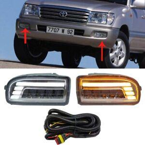 LED Front Fog Lamp Daytime Running Light For Toyota Land Cruiser 100 LC100 98-07