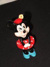 Vintage Walt Disney Minnie Mouse Figurine Figure Japan (k977)