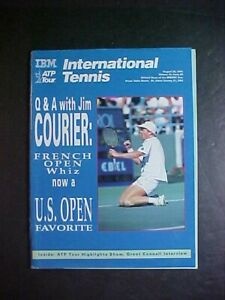 AUGUST 26, 1991 INTERNATIONAL TENNIS MAGAZINE! JIM COURIER COVER! ATP TOUR