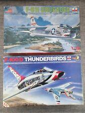 2 x ESCI 1/72 KITS - 9024 F-100D THUNDERBIRDS & 9074 F-8H CRUSADER - NO DECALS