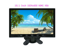 "Ultra Thin HD 1024*600 10.1"" TFT LCD Audio Video HDMI VGA Car Rearview Monitor"