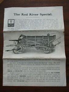 Original Red River Special Threshing Machines Sales Brochure Rare