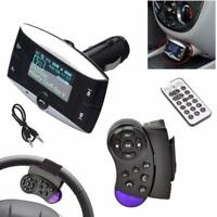 1,5''lcd car kit fm transmitter mp3 player modulator sd mmc usb fernbedienung