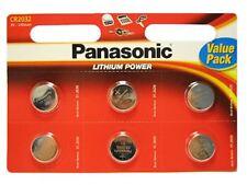 Panasonic CR2032 3V Lithium Coin Cell Battery DL/BR 2032 - 6 Pack