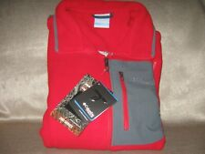 Columbia Titanium Men's Titan Pass 2.0 Fleece Jacket  Sz Lrg. Red/gray. New .