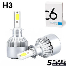 2x H3 LED Headlight Conversion Kit 1100W 159000LM Fog Light Beam Bulb 6000K Lamp