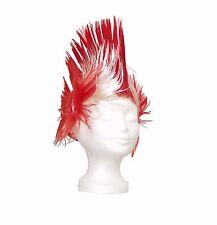 Fußball Fan Perücke England Rot Weiß Fanperücke Irokese Karneval Fasching Haare