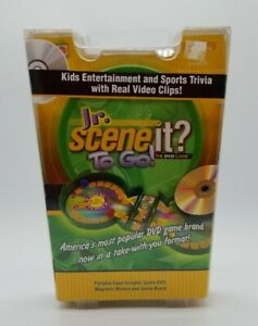 Jr. Scene It? To Go The DVD Game Portable Case Travel Edition Brand New in Box