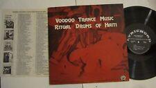 RITUAL DRUMS OF HAITI LP VOODOO TRANCE MUSIC W/ LYRICHORD CATALOG INSERT / VG++