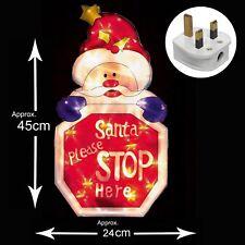 Iluminación Interior Ventana Navidad Silueta - Santa Stop Here