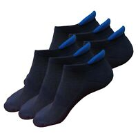 6 Pairs Mens Low Cut Ankle Cotton Cushion Athletic Socks for Running Sports