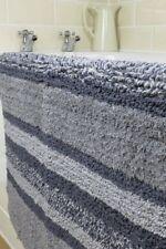 Bath Mat 100%25 Cotton Multi Tonal Striped Bathroom Bath Mat Soft Absorbent Pile