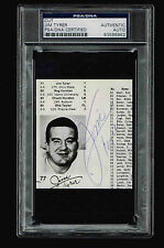 JIM TYRER SIGNED CUT  AUTOGRAPGHED  PSA/DNA 83586962