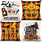 Halloween Pillow Covers 18x18 Inch Set of 4 Fall Throw Pillowcase Farmhouse