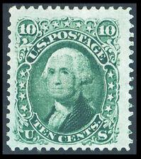US #68; 10¢ WASHINGTON, XF-UNUSED, 2019 PSAG CERTIFICATE, CV $375