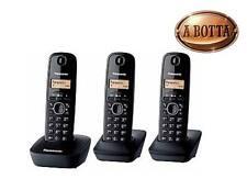 Telefono Cordless Trio Panasonic KXTG1613 JTH 50 Nomi in Rubrica - Tre Telefoni