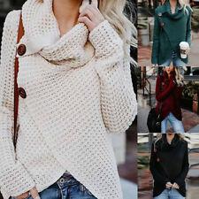 Women's Long Sleeve Knitted Sweater Jumper Cardigan Knitwear Warmer Outwear Tops