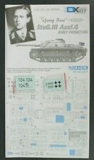 "Dragon 1/35th Scale Stug III G Early ""Georg Bose"" Decals from Kit No. 6417"