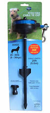 Dog Stake with Retractable Cable Tie Out,Strong Spike,Medium 20-80 lbs,20ft lead