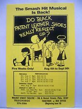 DO BLACK PATENT LEATHER SHOES REALLY REFLECT UP Herald WALNUT ST THEATRE Phila