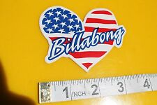 Billabong American Flag Heart Surfboards Vintage Surfing Decal STICKER