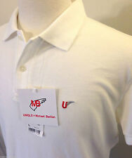 MICHAEL BASTIAN x UNIQLO Men's Washed Short Sleeve Polo Shirt L Solid White NWT!