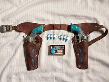 Texan jr cap guns, holster, Nichols derringer and toy wooden bullets