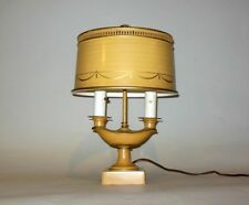Vtg TOLE METAL Lamp Aladdin Candlestick BOUILLOTTE French Regency Directoire