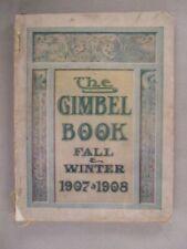 Gimbel's CATALOG - Fall/Winter, 1907-1908
