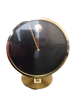 VINTAGE HOWARD MILLER NATHAN GEORGE HORWITT BRASS MUSEUM DESK CLOCK MOVADO MCM