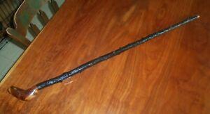 Vintage Irish Walking Stick - Shillelagh - Black Thorn Wood