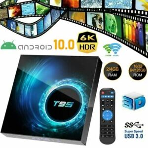 T95 4K TV BOX Android 10 CORE 4GB+128GB  2.4/5G WIFI HDMI 3D Home Media Streamer