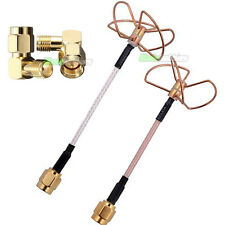 5.8GHz conjunto de Antena Hoja de Trébol SMA FPV TX RX & 90 grados Circular Polarizado Fatshark