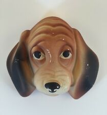 Vintage 1961 Miller Studios BEAGLE Chalkware Dog Face Canine FREE SHIPPING