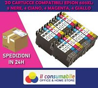 KIT 20 INK JET 603xl EPSON WF-2810 XP4100 WF-2815 XP2100 WF-2850 XP3100
