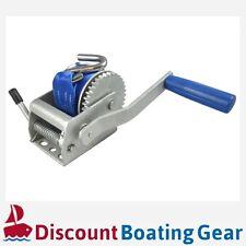 660LBS/300KG Hand Winch 4.1m Strap Manual Car Boat Trailer 4WD 3:1 Tinny