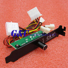 3 Channels PC Cooler Fan Cooling Speed Controller for CPU Case HDD DDR VGA