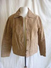 Damen Mantel-Wilsons Leather Maxima, Größe S, hellbraun, 100% Wildleder - 7228
