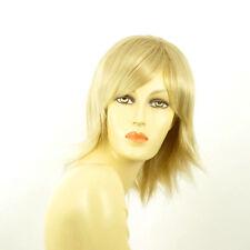 Perruque femme mi-longue blond doré méché blond très clair URSULA 24BT613