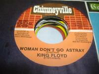 Soul Unplayed NM! 45 KING FLOYD Woman Don't Go Astray on Chimneyville
