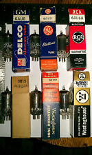 Lot of 6 Vacuum Pentode  6AU6 & A Tubes GM Delco, GE, RCA ,Westinghouse Tested