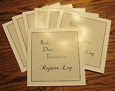4 NEW BDT LARGE PROFESSIONAL DESK CHECKBOOK TRANSACTION REGISTER TAX RECORD LOG